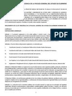 REGLAMENTO DE LA LEY ORGÁNICA DE LA FISCALÍA GENERAL DEL ESTADO DE GUERRERO NÚMERO 500