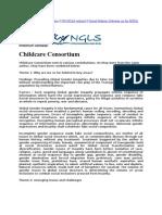Millennium Campaign by NGO,childcare consortium