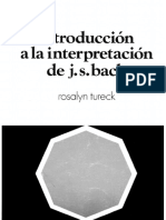INTRODUCCIÓN A LA INTERPRETACIÓN DE J.S. BACH
