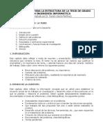 Estructura de Tesis de Grado en Ingenieria Informatica