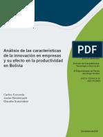 Análisis de las características de la innovación en empresas y su efecto en la productividad en Bolivia