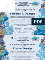 Apo Reef Certificate