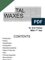 Dental Waxes