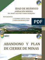Abandono y Plan de Cierre de Minas