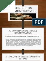Conceptos Remunerativos y No Remunerativ