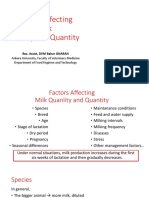 2- Factors Affecting Milk Quality and Quantity of Milk