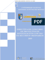 Directiva Concurso Proyectos Investigacion Ro 2019