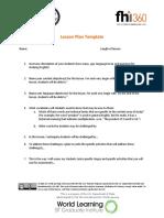 CBI Lesson Plan Template