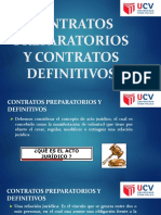 Contratos Preparatorios y Contratos Definitivos