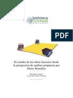 El estudio de las obras literarias desde la perspectiva de Pierre Bourdieu