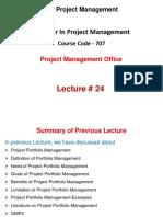 Spm Lecture 24 (Pmo)
