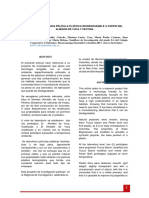 Elaboración Deuna Película Plástica Biodegradable Apartir Del Almidon de Yuca y Pectina