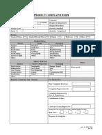 BD-CF001 Rev 02 Product Complaint Form(1)