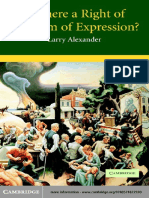 Alexander - Is there a right of freedom of expression.pdf