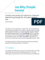 6 Reasons Why People Are Dishonest