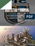 Factores Que Condicionan El Diseño Arquitectonico
