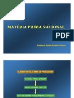 Materia Prima y Registro