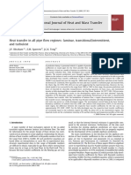 Heat Transfer in All Pipe Flow Regimes_ Laminar, Transitional_intermittent, And Turbulent