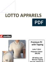 Lotto T-shirts Presentation - Offiworld