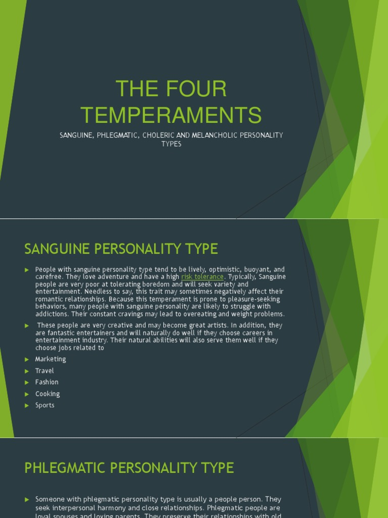 Is person phlegmatic who a Career Fits
