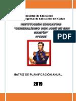 Matriz de Planificación Anual 2019