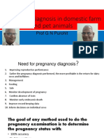 Lecture 13 Pregnancy Diagnosis in Farm and Pet Animals