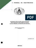Sistema de Protección Contra Incendio para centrales geotermoelectricas