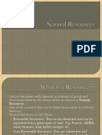 Natural Resources Ppt