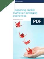 Deepening Capital Markets in Emerging Economies