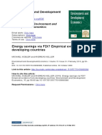 Energy Savings via FDI. Huebler