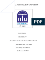Financial Services in India after Post Reform Period