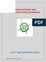 System Software Lab-manual