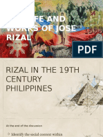 RIZAL in 19th Century