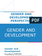 Gender and Development Perspective