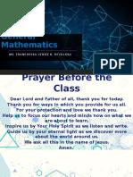 General Mathematics COT