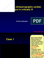 Case Studies How to Use USG CO in Critically Ill BEKASI - Dr.rully