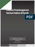 Panduan Penyelenggaraan Bantuan Hukum di Daerah