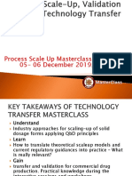 Process Scale-Up, Validation & Technology Transfer