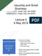 2019 Spring Entrepreneurship Class- Lecture 5.pptx