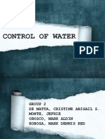 Control of Water by Group 2