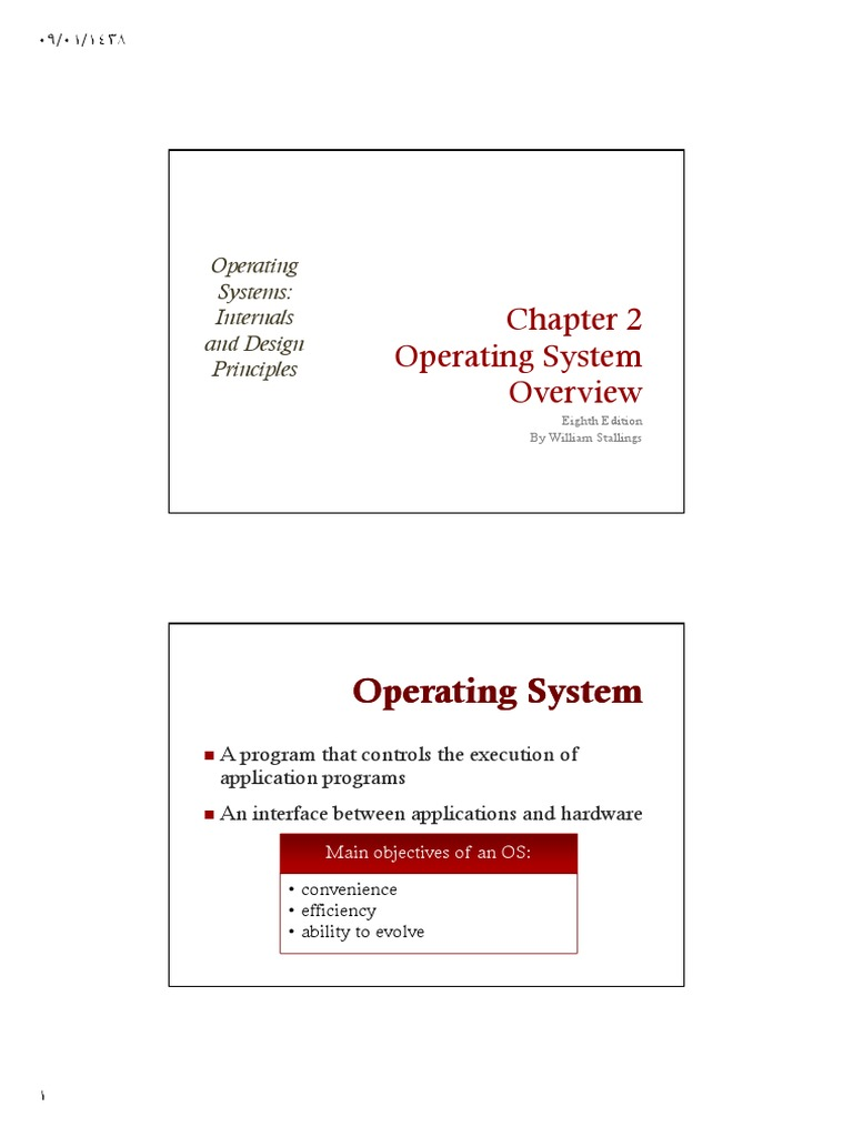 2x1 Ch 02 Operating System Overview Os8e Process Computing Thread Computing Free 30 Day Trial Scribd