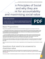 Social Value Principles and Accountability