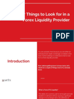7 Things to Look for in a Forex Liquidity Provider