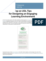 UDL Top 10 Engagement Strategies