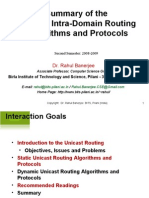 IP Unicast Routing Algorithms and Protocols