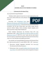 File-Materi Kebijakan Dan Dasar-dasar Keselamatan Dan Kesehatan Kerja, Contoh Penerapan, Pengertian Kecelakaan, Istilah, Analisis Kecelakaan, Job Safety Analisis, Job Safety Observation.pdf