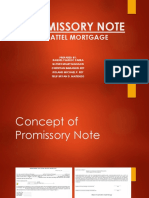 Promissory Note Chattel Mortgage
