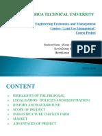 Land Use Management - chicken farm