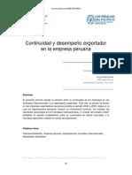 Continuidad y desempeño exportador en la empresa peruana