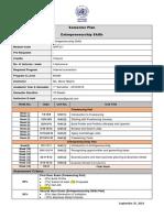 Entrep&Freelancing Action Plan 2020